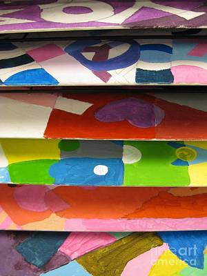 Drying Rack   Two Art Print by Judy Via-Wolff