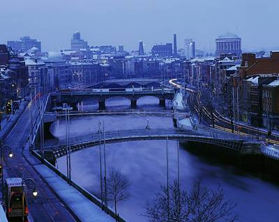 Hapenny Photograph - Dublin, Co Dublin, Ireland River Liffey by The Irish Image Collection