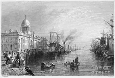 Photograph - Dublin: Custom House, 1840 by Granger