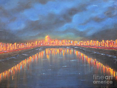 Painting - Dublin In Blue by Sonia Flores Ruiz