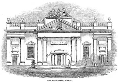Photograph - Dublin: Music Hall, 1844 by Granger
