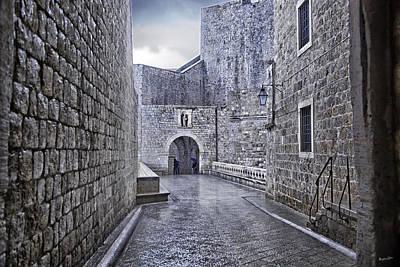 Dubrovnik In The Rain - Old City Art Print