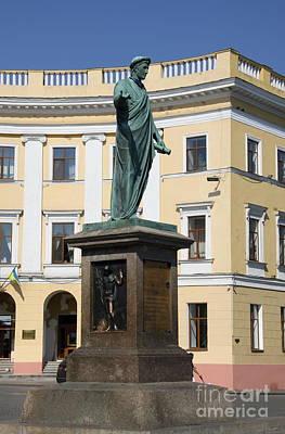 Duc De Richelieu Sculpture - Odessa Art Print by Christiane Schulze Art And Photography