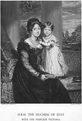 Duchess Of Kent & Victoria Art Print by Granger