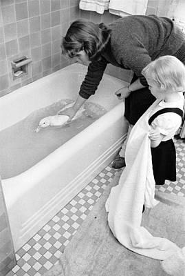 Domestic Bathroom Photograph - Duck Bath by Nocella