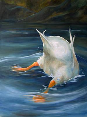 Duck Butt Art Print by Mary Sparrow