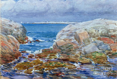 Nh Painting - Duck Island by Childe Hassam