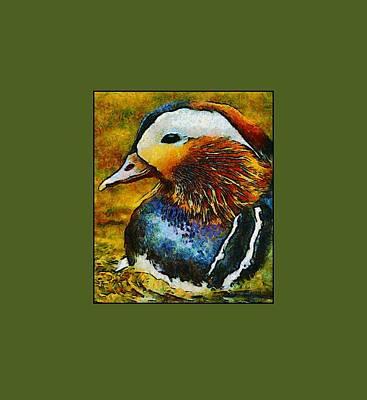 Mixed Media - Duck Waddle Quack by Georgiana Romanovna