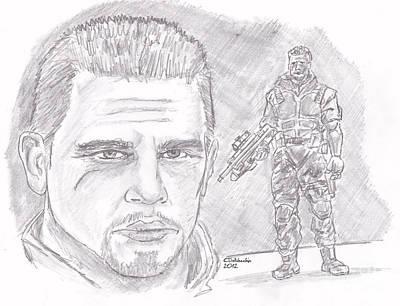 Drawing - Duke by Chris  DelVecchio