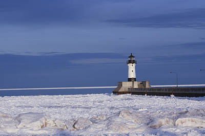 Photograph - Duluth Harbor North Breakwater by Ron Read