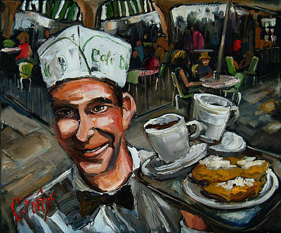Beignets Painting - Dumonde Waiter by Carole Foret