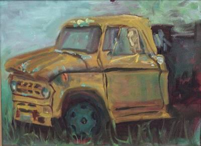 Art Print featuring the painting Dump Truck by Carol Berning