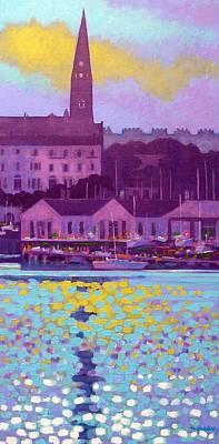 Dun Laoghaire Harbour Dublin Ireland Art Print by John  Nolan