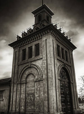 Dundurn Castle Aviary Tower Bw Art Print