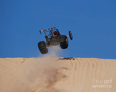 Sports Royalty-Free and Rights-Managed Images - Dune Buggy Jump by Grace Grogan