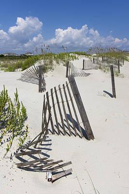Photograph - Dune Fence by Alan Raasch