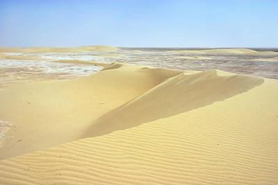 Dunes And Sabkha Art Print by Paul Cowan