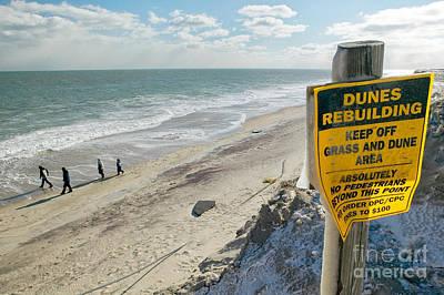 Dunes Rebuilding Keep Off Grass And Dune Area Cape Cod Art Print by Matt Suess