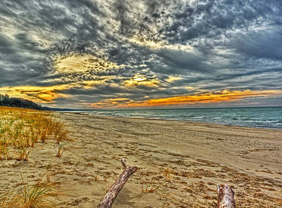 Art Print featuring the photograph Dunes Sunset I by William Fields
