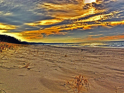 Art Print featuring the photograph Dunes Sunset II by William Fields