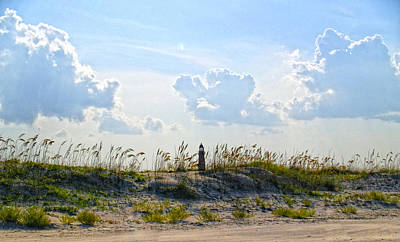 Photograph - Dunes With Lighthouse by Barbara Middleton