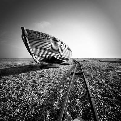 Dungeness Ship Wreck II Art Print by Nina Papiorek