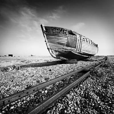 Dungeness Ship Wreck Art Print by Nina Papiorek