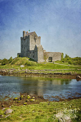 Photograph - Dunguaire Castle Painterly by Cheryl Davis