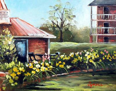 Painting - Dunleith In Yellow by Cynara Shelton