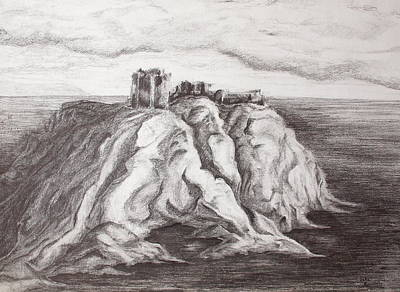 Painting - Dunnottar Castle by Sheep McTavish
