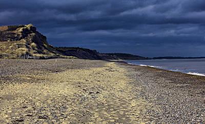 Coastguard Cottages Photograph - Dunwich Beach Suffolk England by Darren Burroughs