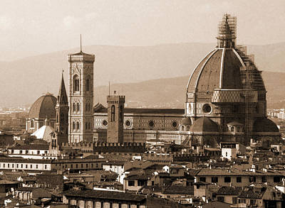 Photograph - Duomo With Scaffolding by Donna Corless