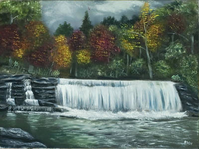 Dupont Painting - Dupont State Forest Hooker Falls by Brandon Hebb