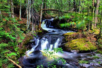Photograph - Duppy Falls Middle Section by Matthew Winn