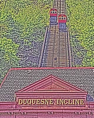 Duquesne Incline Art Art Print by Tom Leach