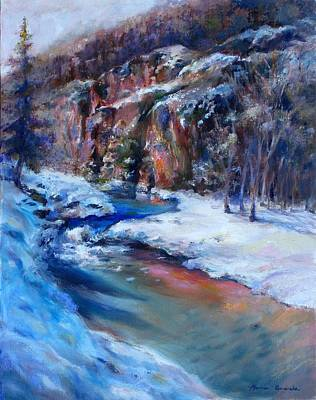 Durango Stream Art Print by Bonnie Goedecke