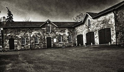 Durdurn Castle Coach House Bw Art Print