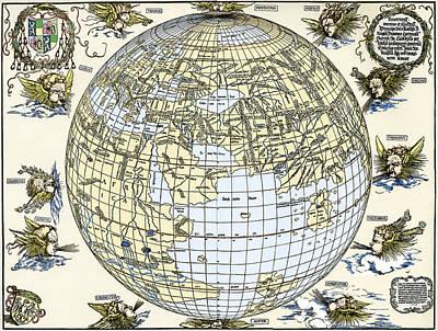 Durer's World Map, 1515 Art Print by Sheila Terry