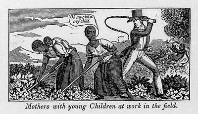 During Work Slave Mothers Had To Leave Art Print by Everett