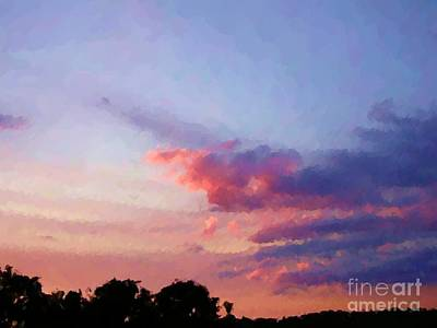 Digital Art - Dusk At Raintree Farm by Denise Dempsey Kane