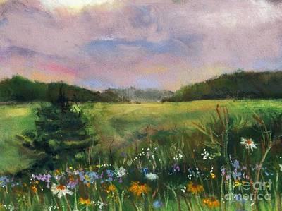 Pastel - Dusk In Trumbauersville by Denise Dempsey Kane