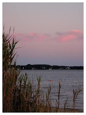 Photograph - Dusk On Long Island Bay by Frank Wickham