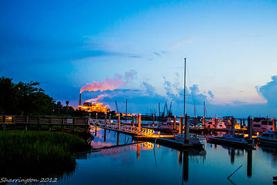 Photograph - Dusk On The Dock by Shannon Harrington