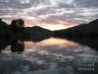 Art Print featuring the photograph Dusk On The River by Arlene Carmel