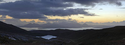 Dusk Panorama Of Skye Art Print by Gary Eason