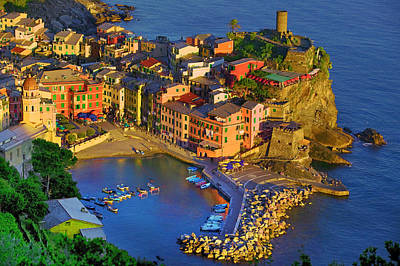 Photograph - Dusk Vernazza by John Galbo
