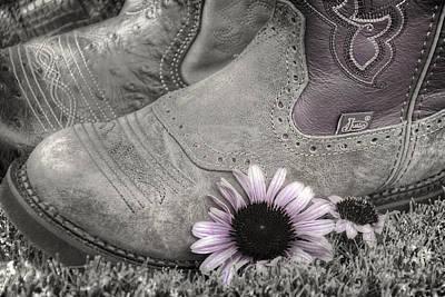 Cone Flower Photograph - Dusky Megaboots by Joan Carroll
