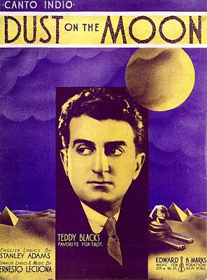 Old Sheet Music Photograph - Dust On The Moon by Mel Thompson