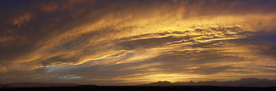 Photograph - Dust Storm Sunset 1a by Gregory Scott