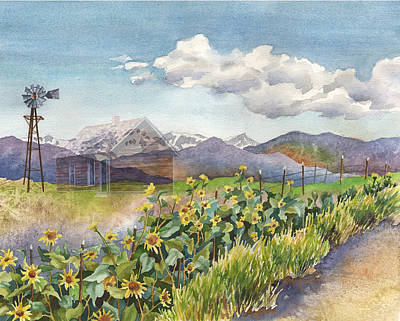 Painting - Dust To Dust Pawnee Grasslands by Anne Gifford